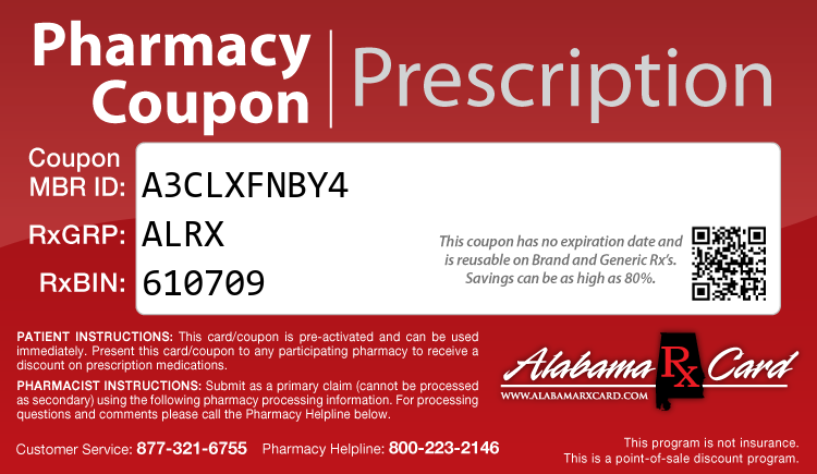 Alabama Rx Card - Free Prescription Drug Coupon Card